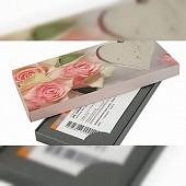 Geschenkkarton - Motiv: Herz & Rosen
