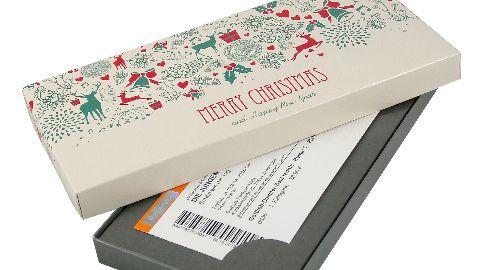Geschenkkarton - Motiv: Merry Christmas