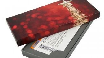 Geschenkkarton - Motiv: Weihnachtsstern