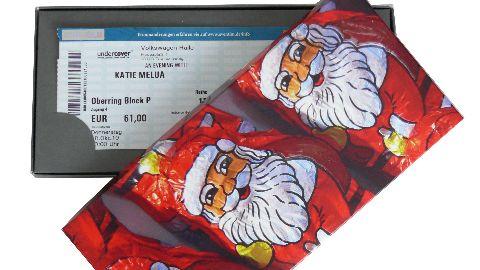 Geschenkkarton - Motiv: Weihnachtsmänner